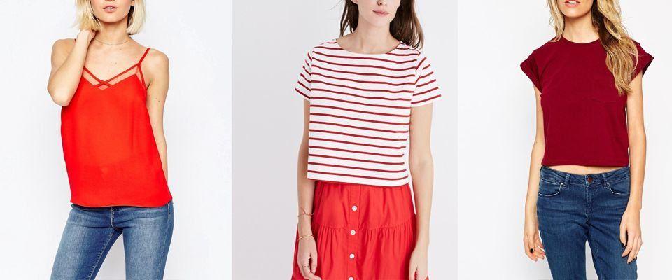 красные футболки фото