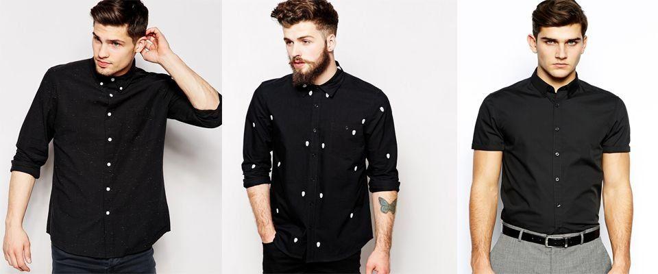 черные мужские рубашки фото
