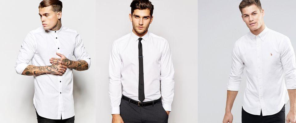 белые мужские рубашки фото