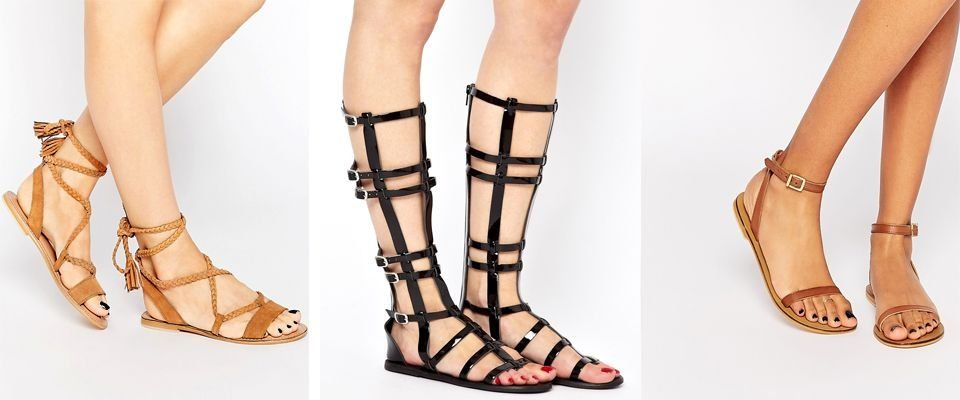 кожаные женские сандалии фото