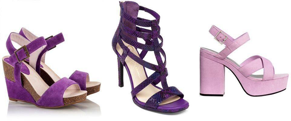 фиолетовые женские босоножки фото