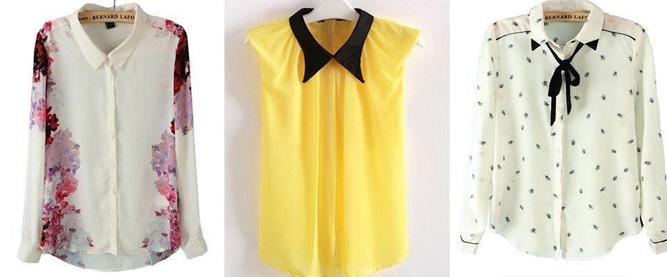 шифоновые женские блузки фото