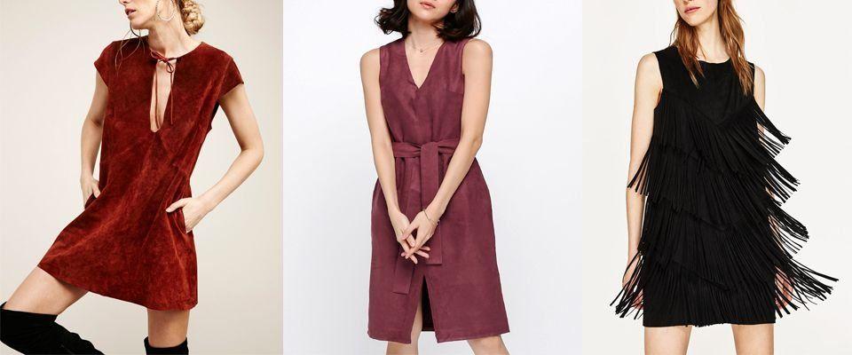 замшевые платья фото