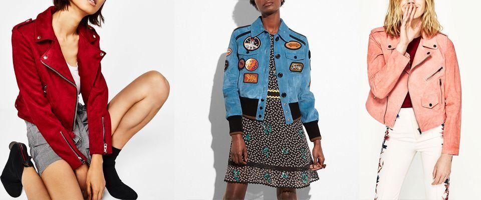 замшевые женские куртки фото