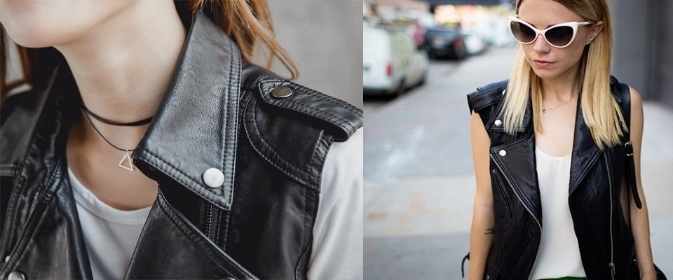 кожаные женские жилеты фото