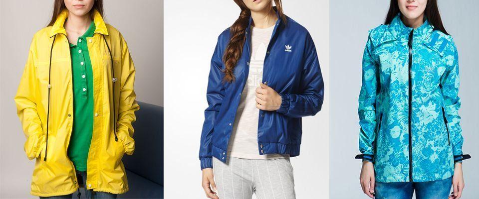 Женские ветровки и легкие куртки фото