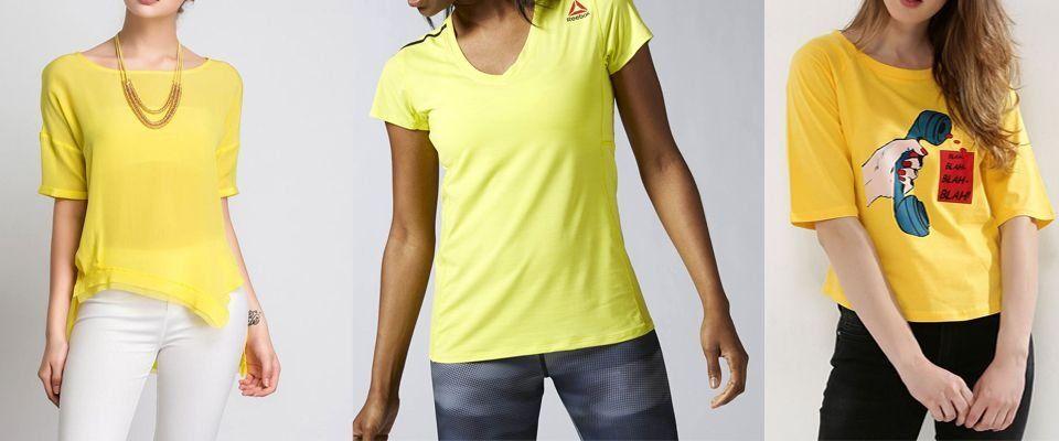 желтые футболки фото