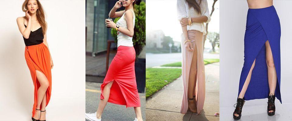 Фасоны юбки с разрезами
